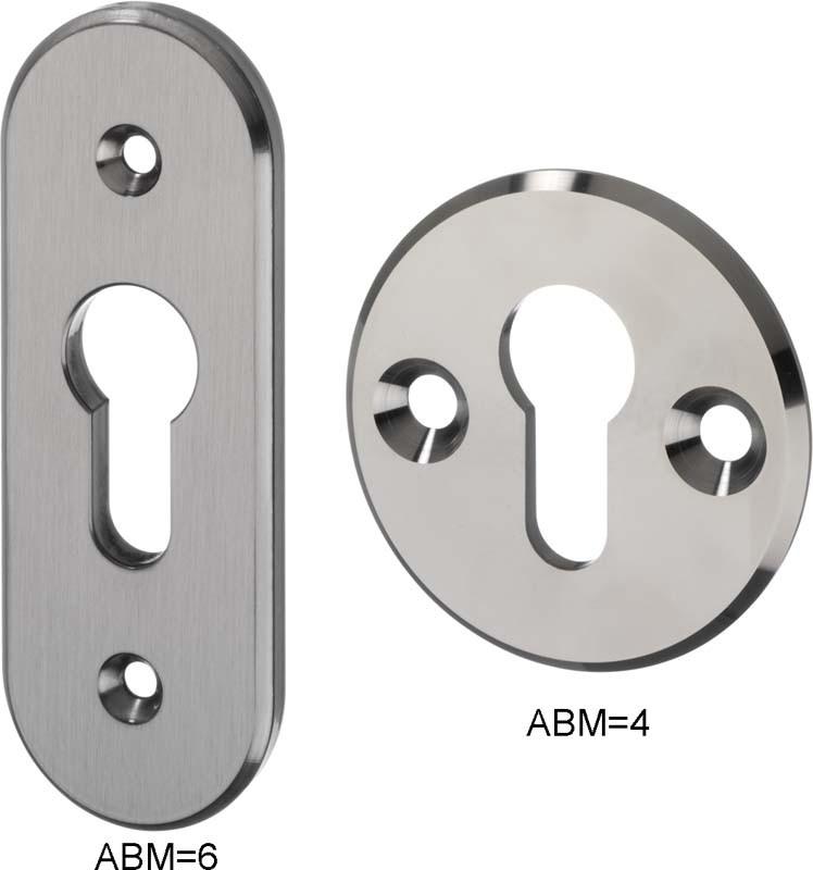 IKON Assa Abloy Innenrosette Zubehör und Einzelteile Türbeschlag (1981,ABM=6,FB=Neusilberfarben (F2))