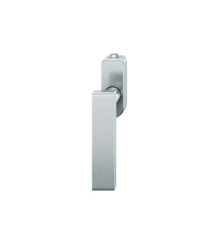 FSB Fenstergriff mit Druckknopfzylinder 30 mm Edelstahl fein matt (0 34 1003 07600 6204)