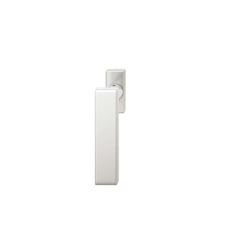 FSB Fenstergriff mit eckige Rosette 7 mm Stift 10 mm Nocken Stiftüberstand 24-38 mm Aluminium naturfarbig (0 34 1003 09032 0105)