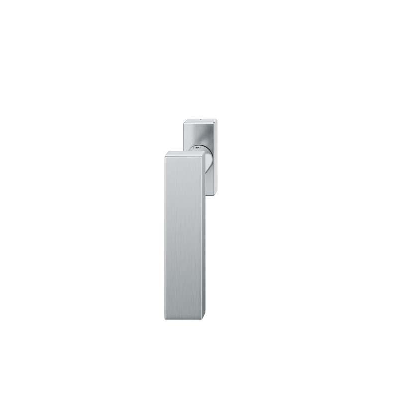 FSB Fenstergriff mit eckige Rosette 7 mm Stift 10 mm Nocken Stiftüberstand 24-38 mm Edelstahl fein matt (0 34 1003 09032 6204)