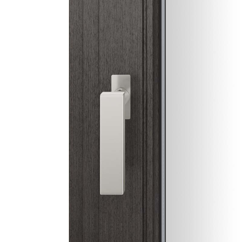 FSB Fenstergriff mit eckige Rosette flächenbündig. Stift 7 mm Stiftüberstand 14-28 mm Aluminium naturfarbig (0 34 1003 09036 0105)