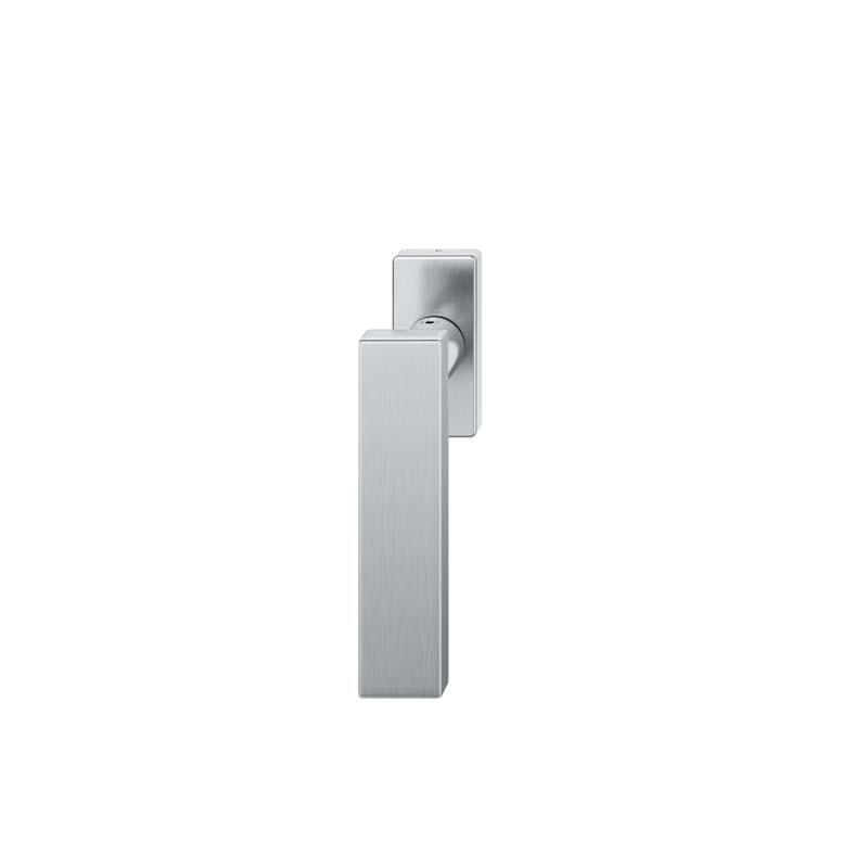FSB Fenstergriff eckige Rosette 7 mm Stift 10 mm Nocken Stiftüberstand 24-38 mm Edelstahl fein matt (0 34 1003 09040 6204)