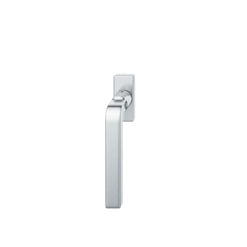 FSB Fenstergriff mit eckige Rosette 7 mm Stift 10 mm Nocken Stiftüberstand 24-38 mm Edelstahl fein matt (0 34 1004 09032 6204)