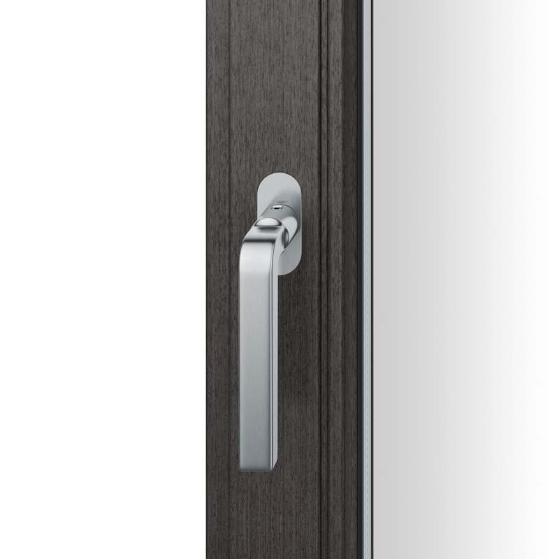 FSB Fenstergriff mit ovalrosette flächenbündig. Stift 7 mm Stiftüberstand 14-28 mm Edelstahl fein matt (0 34 1004 09034 6204)