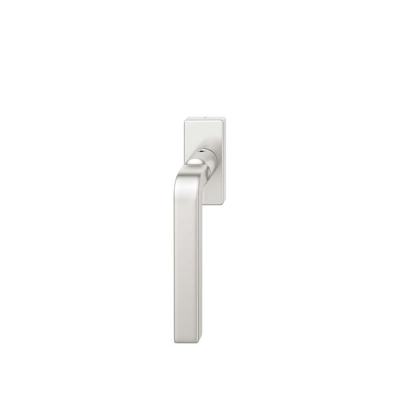 FSB Fenstergriff eckige Rosette 7 mm Stift 10 mm Nocken Stiftüberstand 24-38 mm Aluminium naturfarbig (0 34 1004 09040 0105)