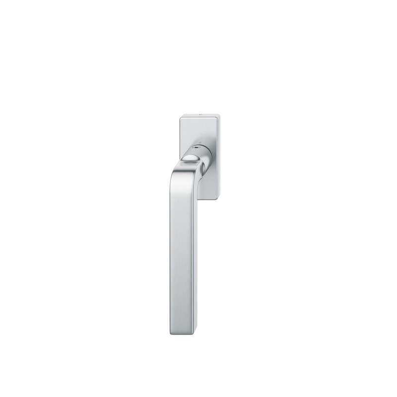 FSB Fenstergriff eckige Rosette 7 mm Stift 10 mm Nocken Stiftüberstand 24-38 mm Edelstahl fein matt (0 34 1004 09040 6204)