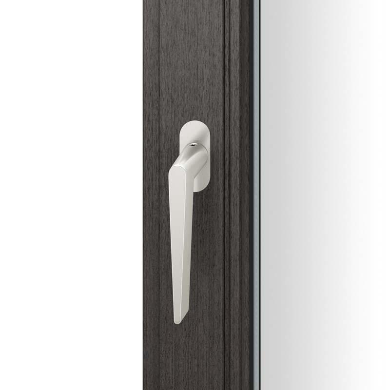 FSB Fenstergriff mit ovalrosette flächenbündig. Stift 7 mm Stiftüberstand 14-28 mm Aluminium naturfarbig (0 34 1005 09034 0105)