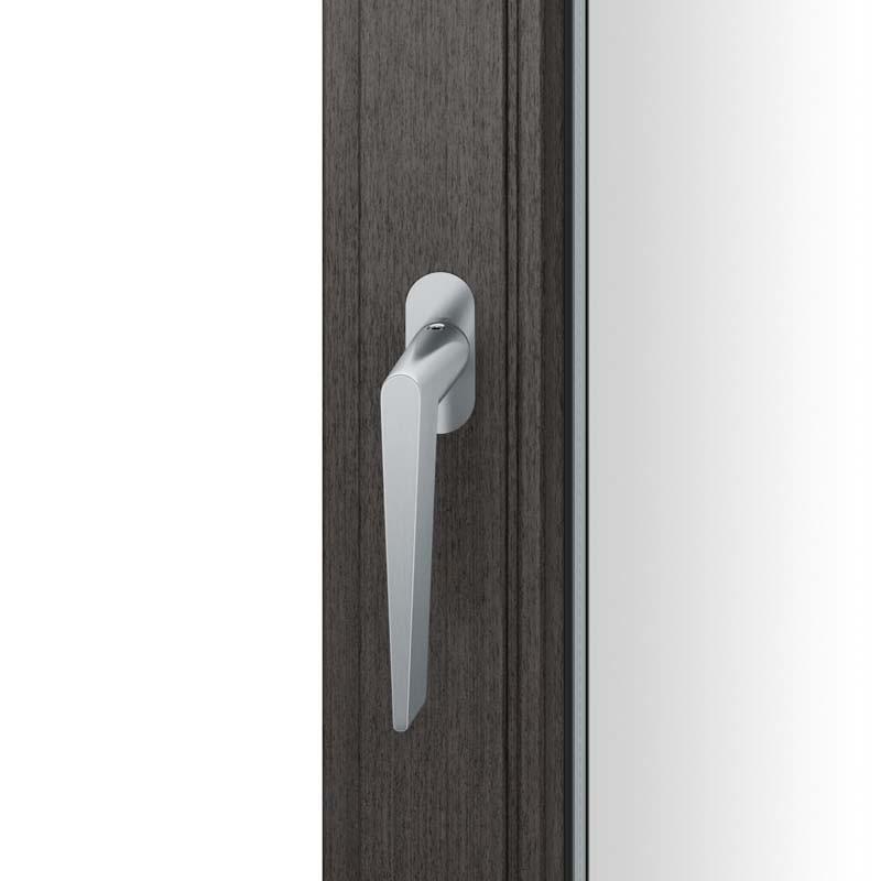 FSB Fenstergriff mit ovalrosette flächenbündig. Stift 7 mm Stiftüberstand 14-28 mm Edelstahl fein matt (0 34 1005 09034 6204)