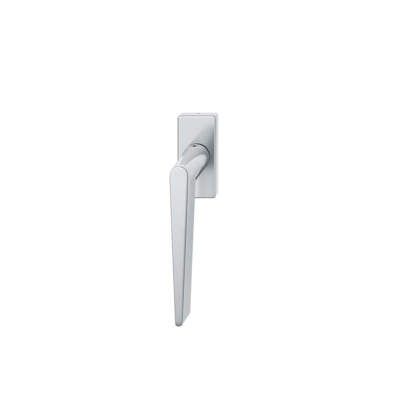 FSB Fenstergriff eckige Rosette 7 mm Stift 10 mm Nocken Stiftüberstand 24-38 mm Edelstahl fein matt (0 34 1005 09040 6204)