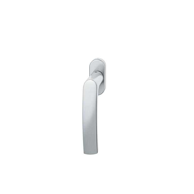 FSB Fenstergriff mit ovalrosette 7 mm Stift 10 mm Nocken Stiftüberstand 24-38 mm Edelstahl fein matt (0 34 1015 09030 6204)