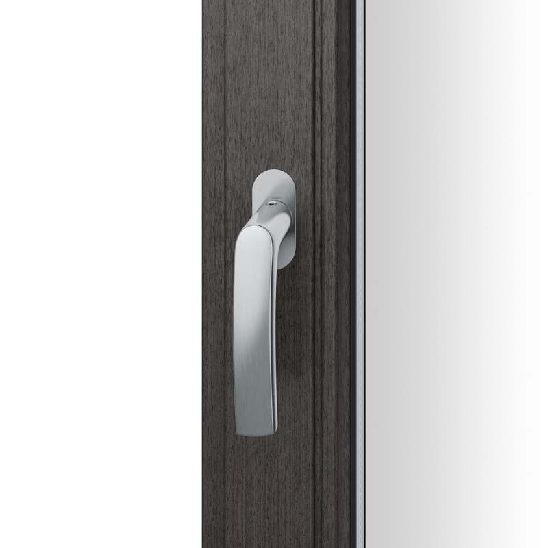 FSB Fenstergriff mit ovalrosette flächenbündig. Stift 7 mm Stiftüberstand 14-28 mm Edelstahl fein matt (0 34 1015 09034 6204)