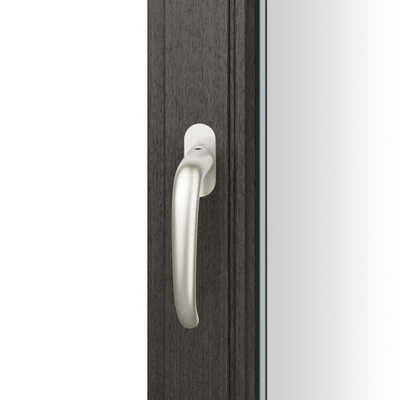FSB Fenstergriff mit ovalrosette flächenbündig. Stift 7 mm Stiftüberstand 14-28 mm Aluminium naturfarbig (0 34 1023 09034 0105)