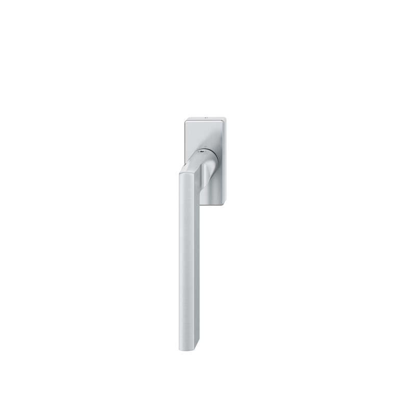 FSB Fenstergriff eckige Rosette 7 mm Stift 10 mm Nocken Stiftüberstand 24-38 mm Edelstahl fein matt (0 34 1035 09040 6204)