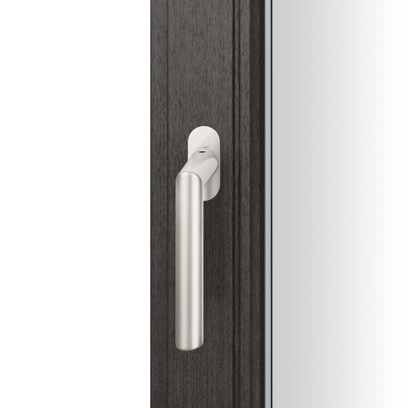 FSB Fenstergriff mit ovalrosette flächenbündig. Stift 7 mm Stiftüberstand 14-28 mm Aluminium naturfarbig (0 34 1076 09034 0105)