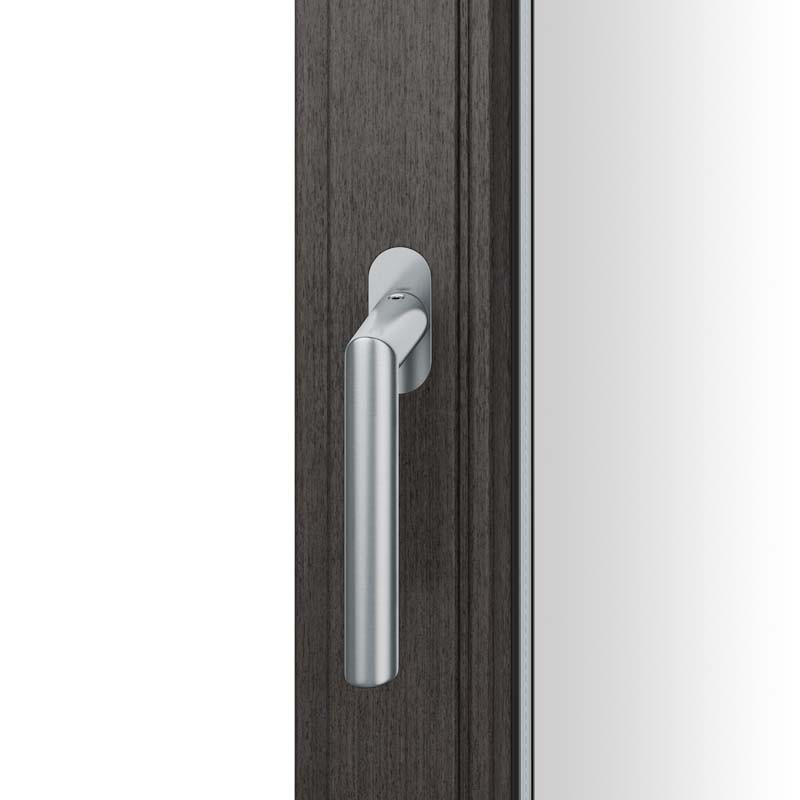FSB Fenstergriff mit ovalrosette flächenbündig. Stift 7 mm Stiftüberstand 14-28 mm Edelstahl fein matt (0 34 1076 09034 6204)