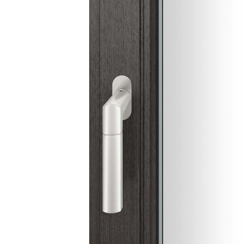 FSB Fenstergriff mit ovalrosette flächenbündig. Stift 7 mm Stiftüberstand 14-28 mm Aluminium naturfarbig (0 34 1078 09034 0105)