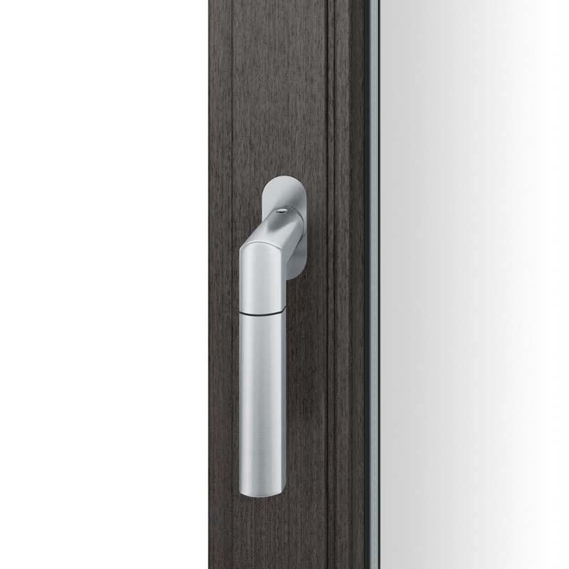 FSB Fenstergriff mit ovalrosette flächenbündig. Stift 7 mm Stiftüberstand 14-28 mm Edelstahl fein matt (0 34 1078 09034 6204)
