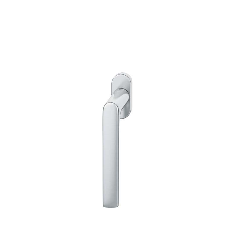 FSB Fenstergriff mit ovalrosette 7 mm Stift 10 mm Nocken Stiftüberstand 24-38 mm Edelstahl fein matt (0 34 1093 09030 6204)