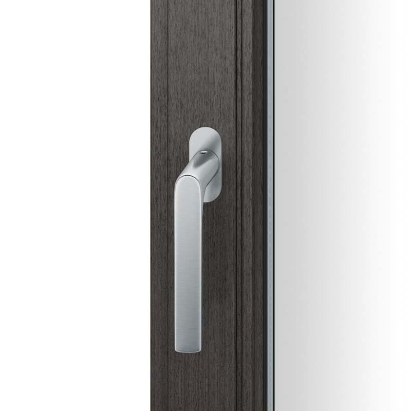 FSB Fenstergriff mit ovalrosette flächenbündig. Stift 7 mm Stiftüberstand 14-28 mm Edelstahl fein matt (0 34 1093 09034 6204)