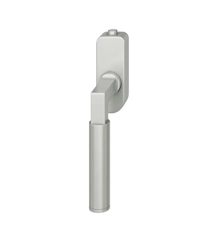 FSB Fenstergriff mit Druckknopfzylinder 30 mm Aluminium naturfarbig (0 34 1102 07600 0105)
