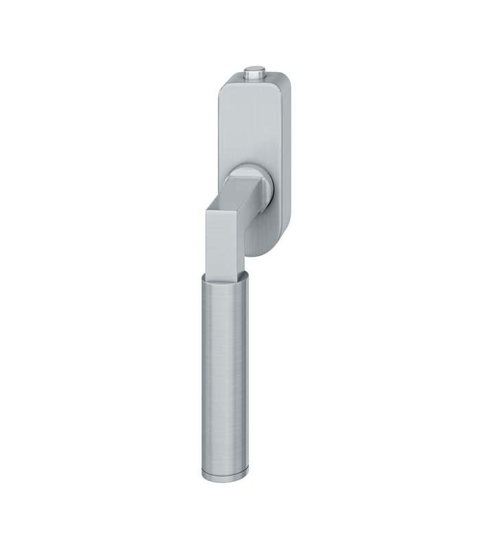 FSB Fenstergriff mit Druckknopfzylinder 30 mm Edelstahl fein matt (0 34 1102 07600 6204)