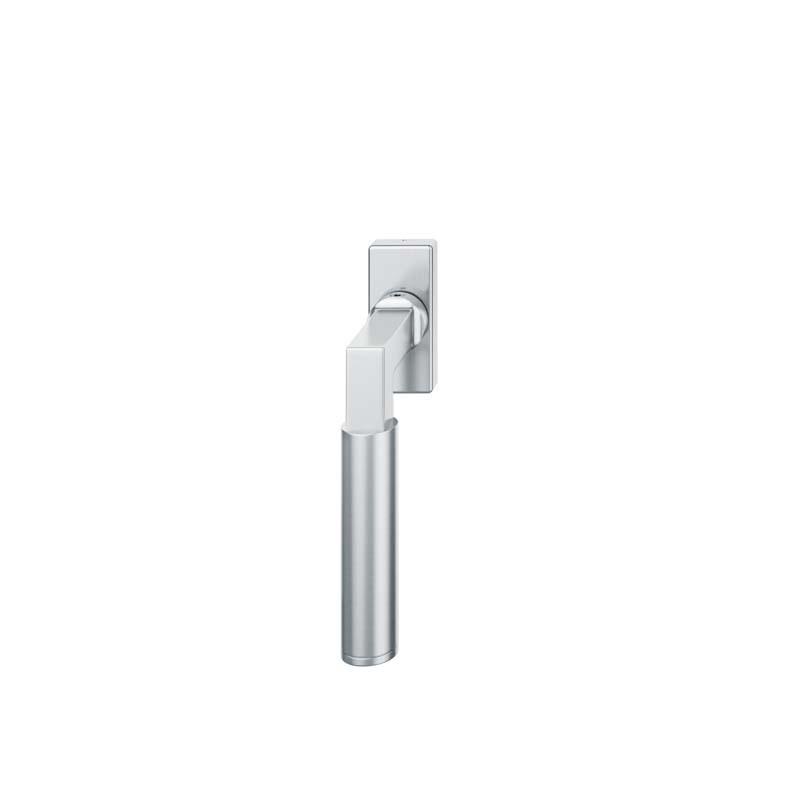 FSB Fenstergriff mit eckige Rosette 7 mm Stift 10 mm Nocken Stiftüberstand 24-38 mm Edelstahl fein matt (0 34 1102 09032 6204)