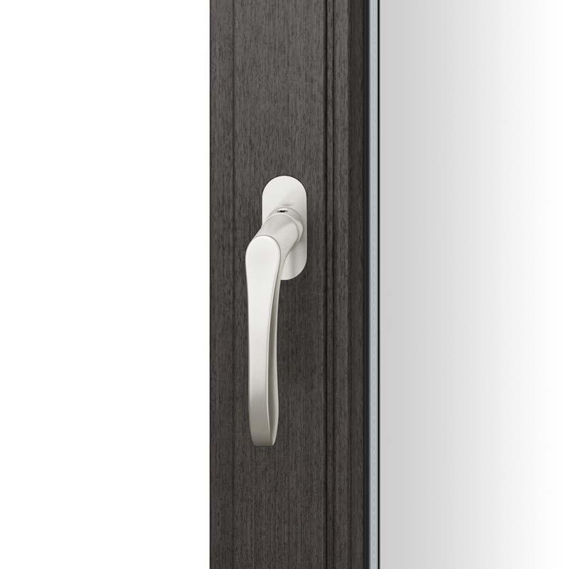 FSB Fenstergriff mit ovalrosette flächenbündig. Stift 7 mm Stiftüberstand 14-28 mm Aluminium naturfarbig (0 34 1106 09034 0105)