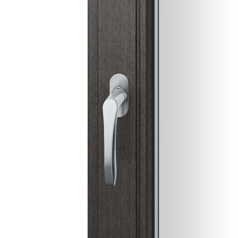 FSB Fenstergriff mit ovalrosette flächenbündig. Stift 7 mm Stiftüberstand 14-28 mm Edelstahl fein matt (0 34 1106 09034 6204)