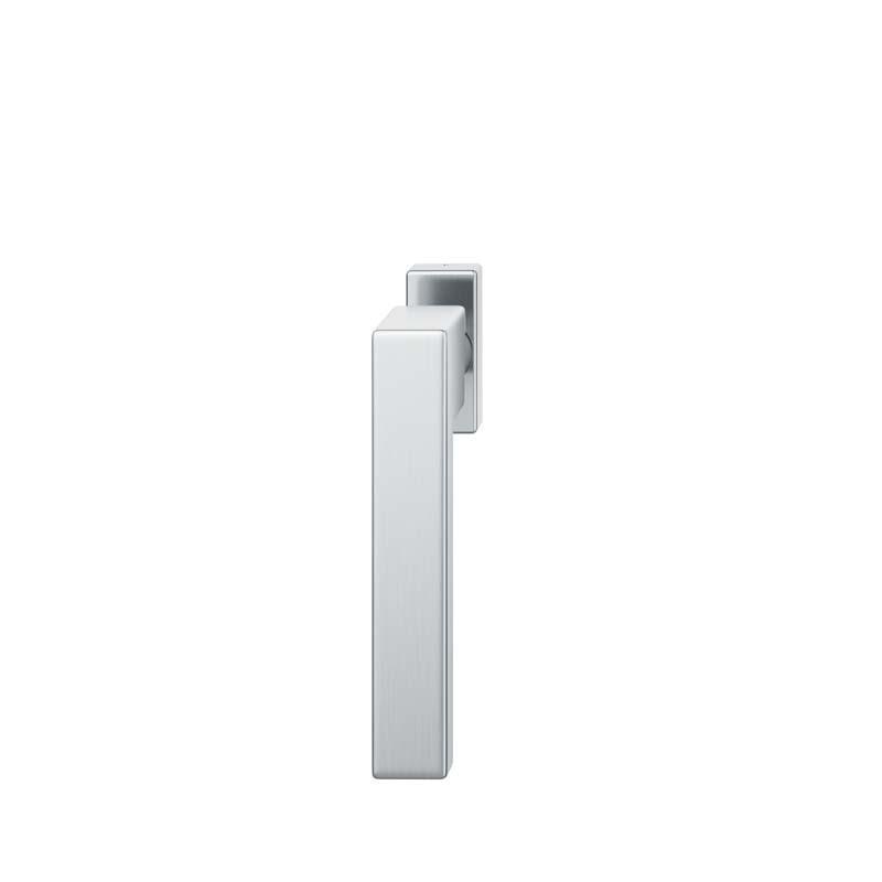 FSB Fenstergriff mit eckige Rosette 7 mm Stift 10 mm Nocken Stiftüberstand 24-38 mm Edelstahl fein matt (0 34 1183 09032 6204)