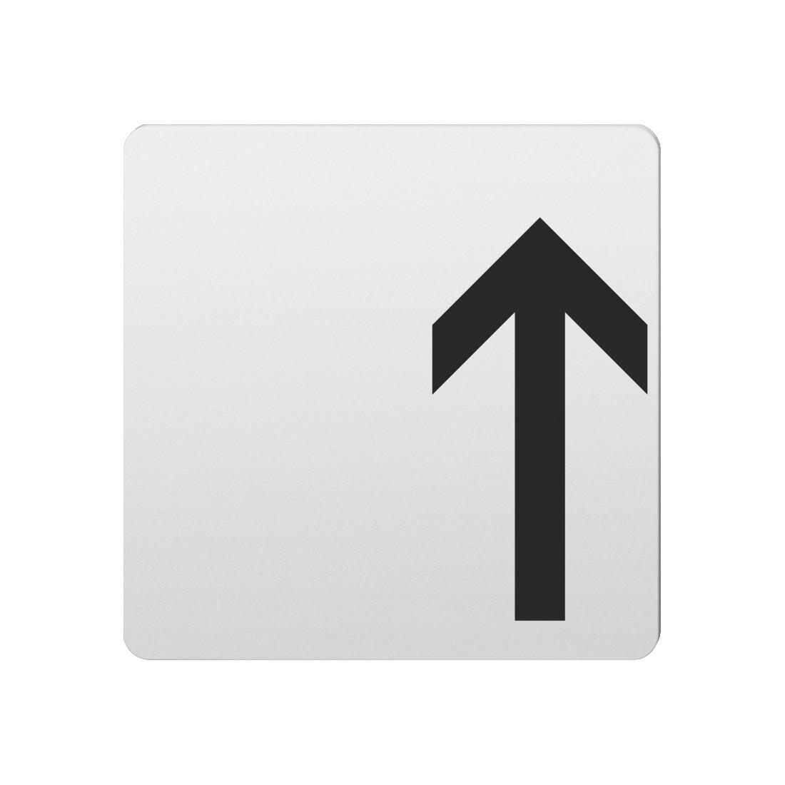 FSB Hinweiszeichen Pfeil nach oben Lasergraviert Aluminium naturfarbig (0 36 4059 00002 0105)