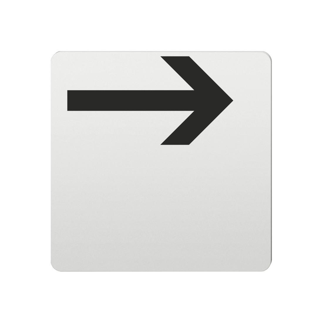 FSB Hinweiszeichen Pfeil nach rechts Lasergraviert Aluminium naturfarbig (0 36 4059 00004 0105)