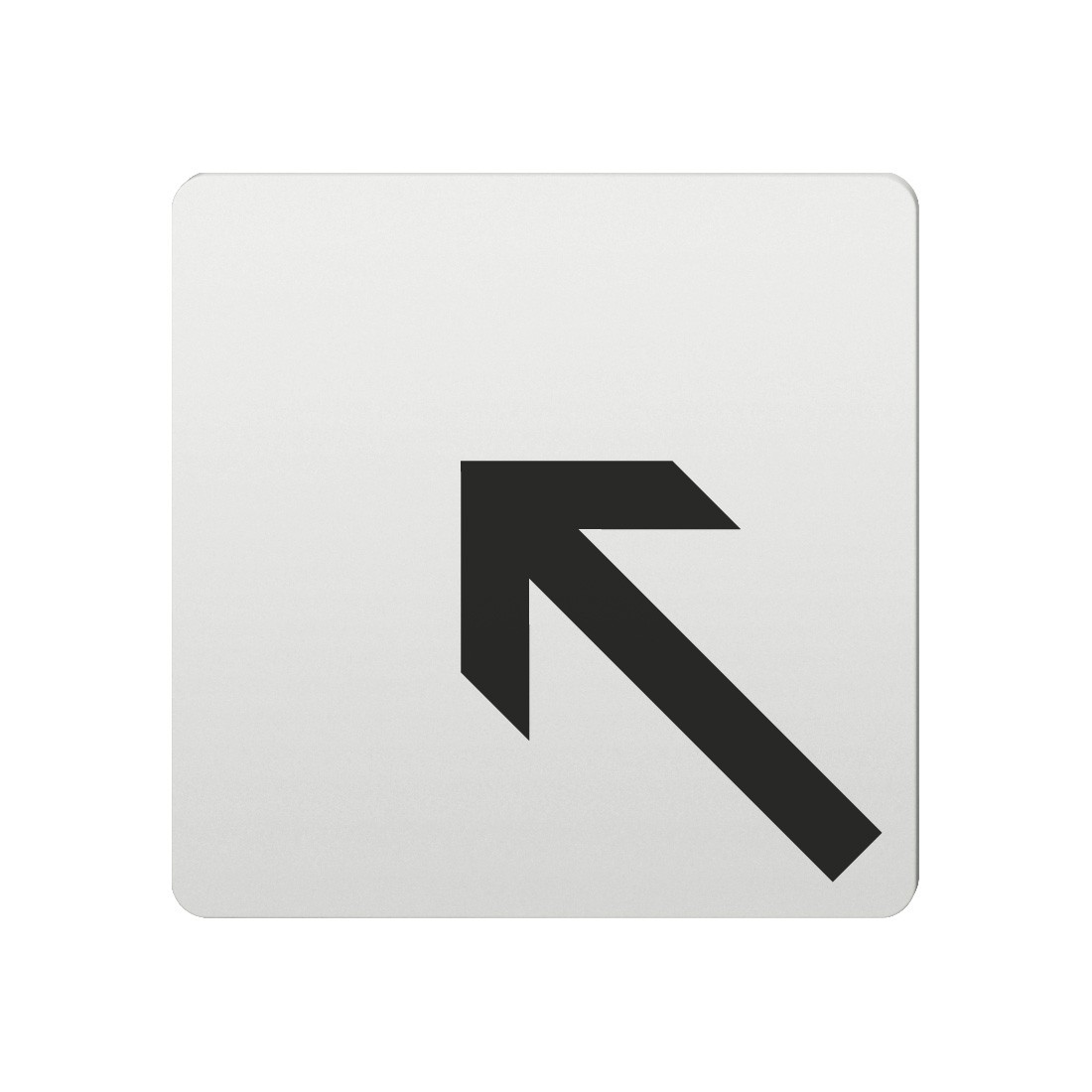 FSB Hinweiszeichen Pfeil nach links oben Lasergraviert Aluminium naturfarbig (0 36 4059 00007 0105)