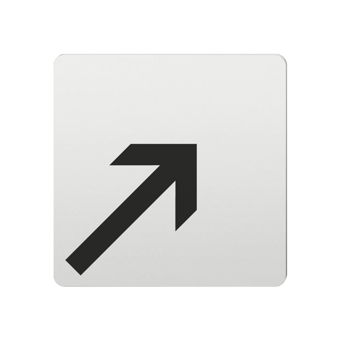 FSB Hinweiszeichen Pfeil n.rechts oben Lasergraviert Aluminium naturfarbig (0 36 4059 00008 0105)