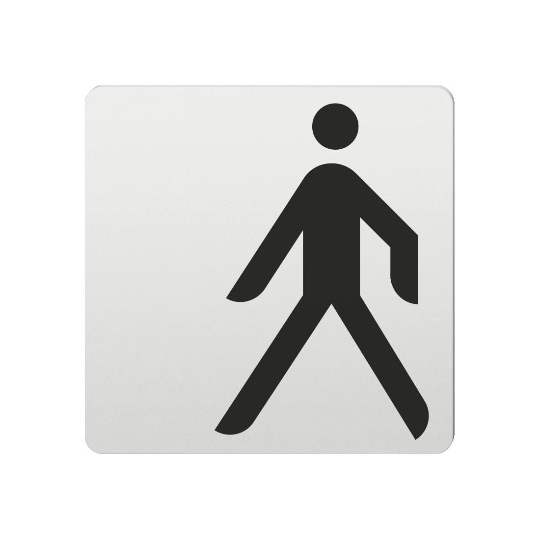 FSB Hinweiszeichen Fussgaenger Lasergraviert Aluminium naturfarbig (0 36 4059 00010 0105)
