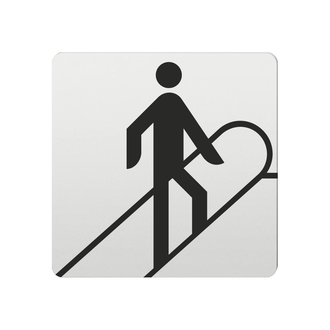 FSB Hinweiszeichen Rolltreppe nach oben Lasergraviert Aluminium naturfarbig (0 36 4059 00016 0105)