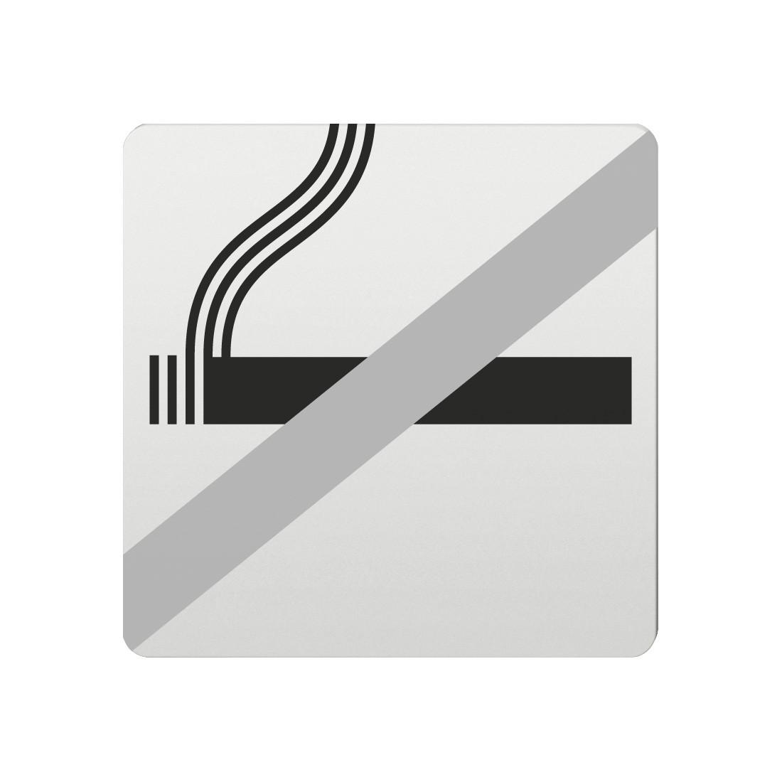 FSB Hinweiszeichen Rauchen verboten Lasergraviert Aluminium naturfarbig (0 36 4059 00030 0105)