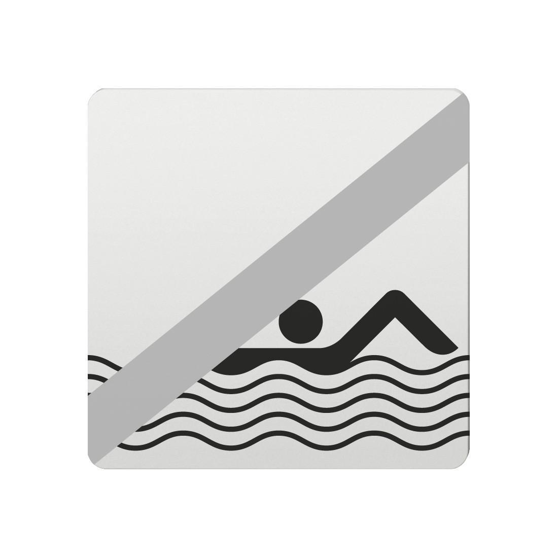 FSB Hinweiszeichen Baden verboten Lasergraviert Aluminium naturfarbig (0 36 4059 00033 0105)