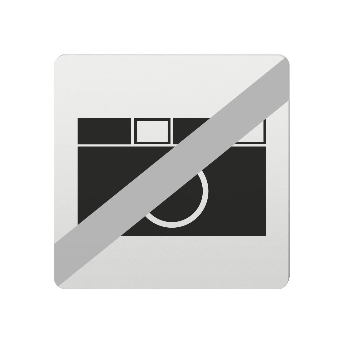 FSB Hinweiszeichen Fotografieren verboten Lasergraviert Aluminium naturfarbig (0 36 4059 00034 0105)