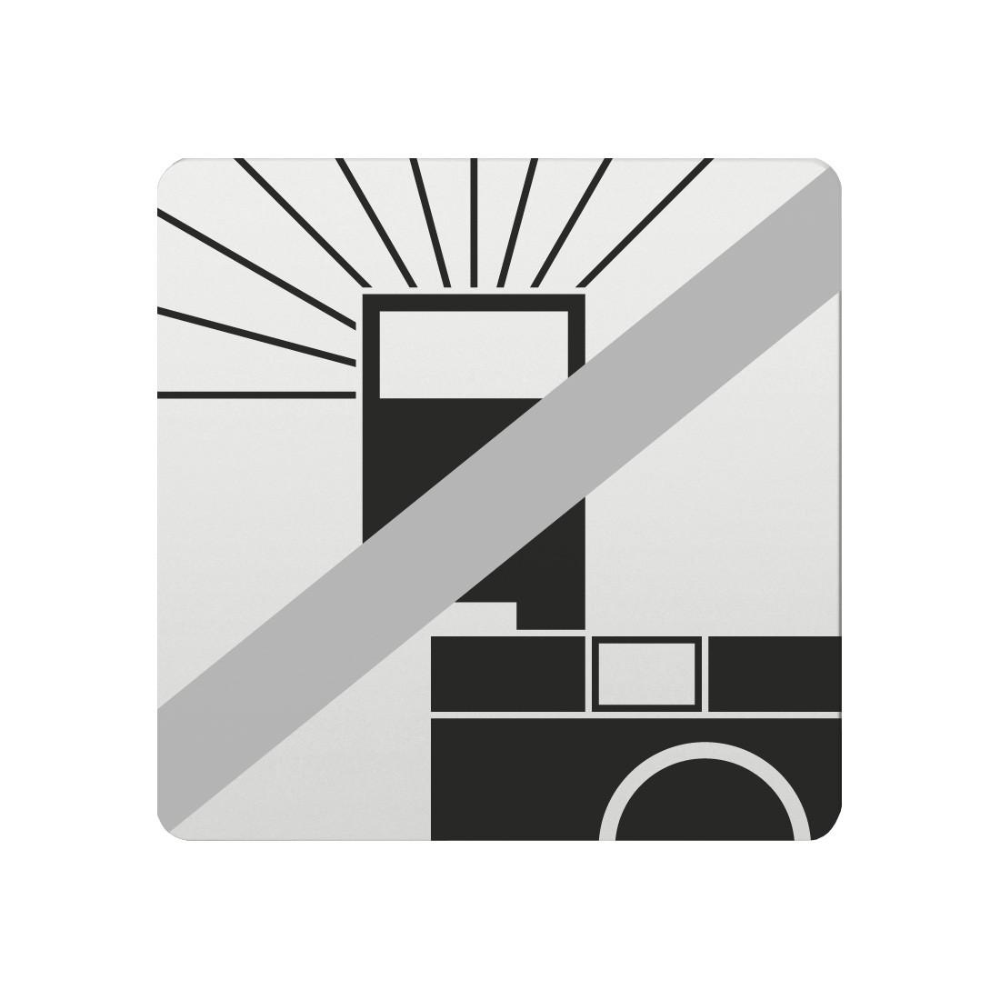 FSB Hinweiszeichen Blitz verboten Lasergraviert Aluminium naturfarbig (0 36 4059 00035 0105)
