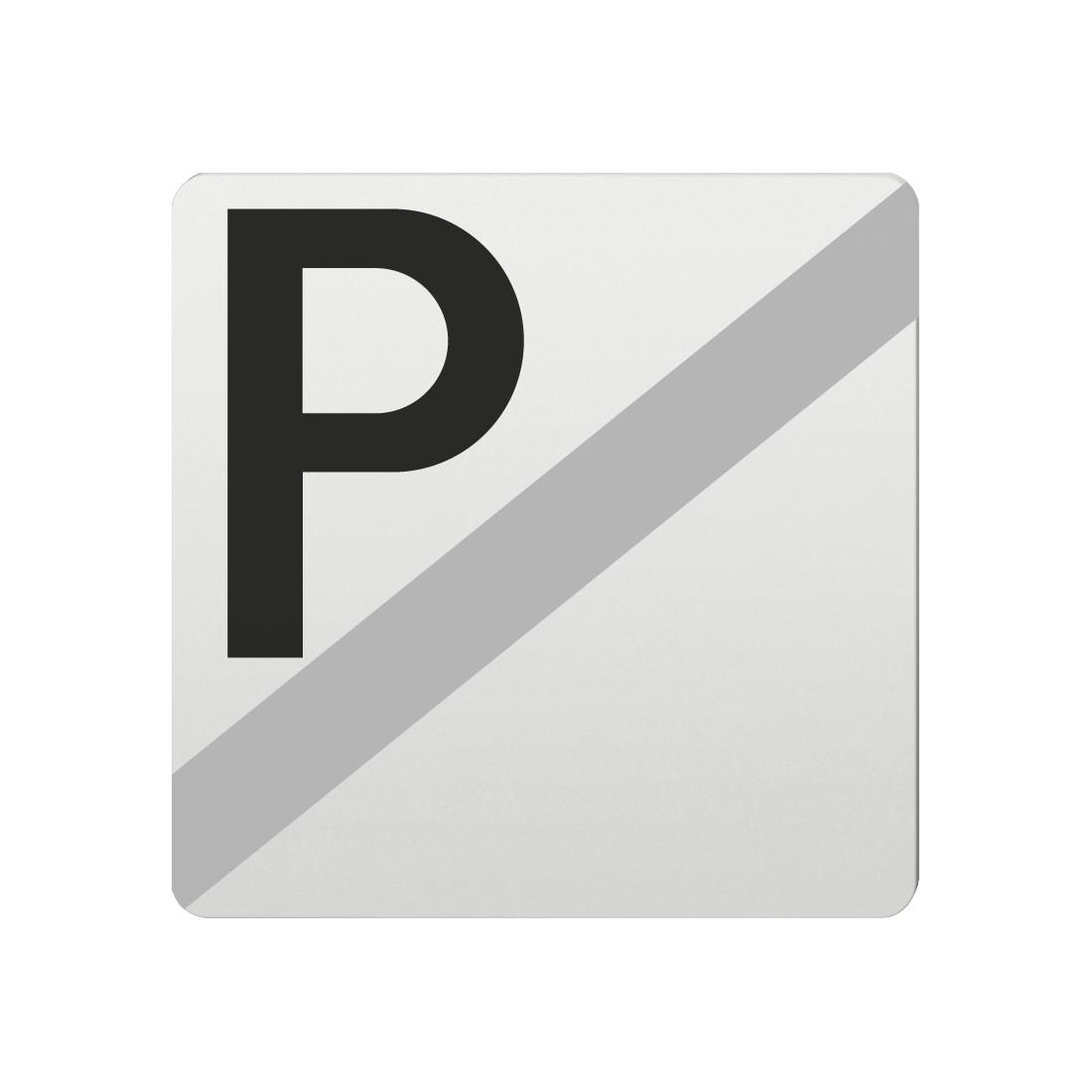 FSB Hinweiszeichen Parken verboten Lasergraviert Aluminium naturfarbig (0 36 4059 00038 0105)