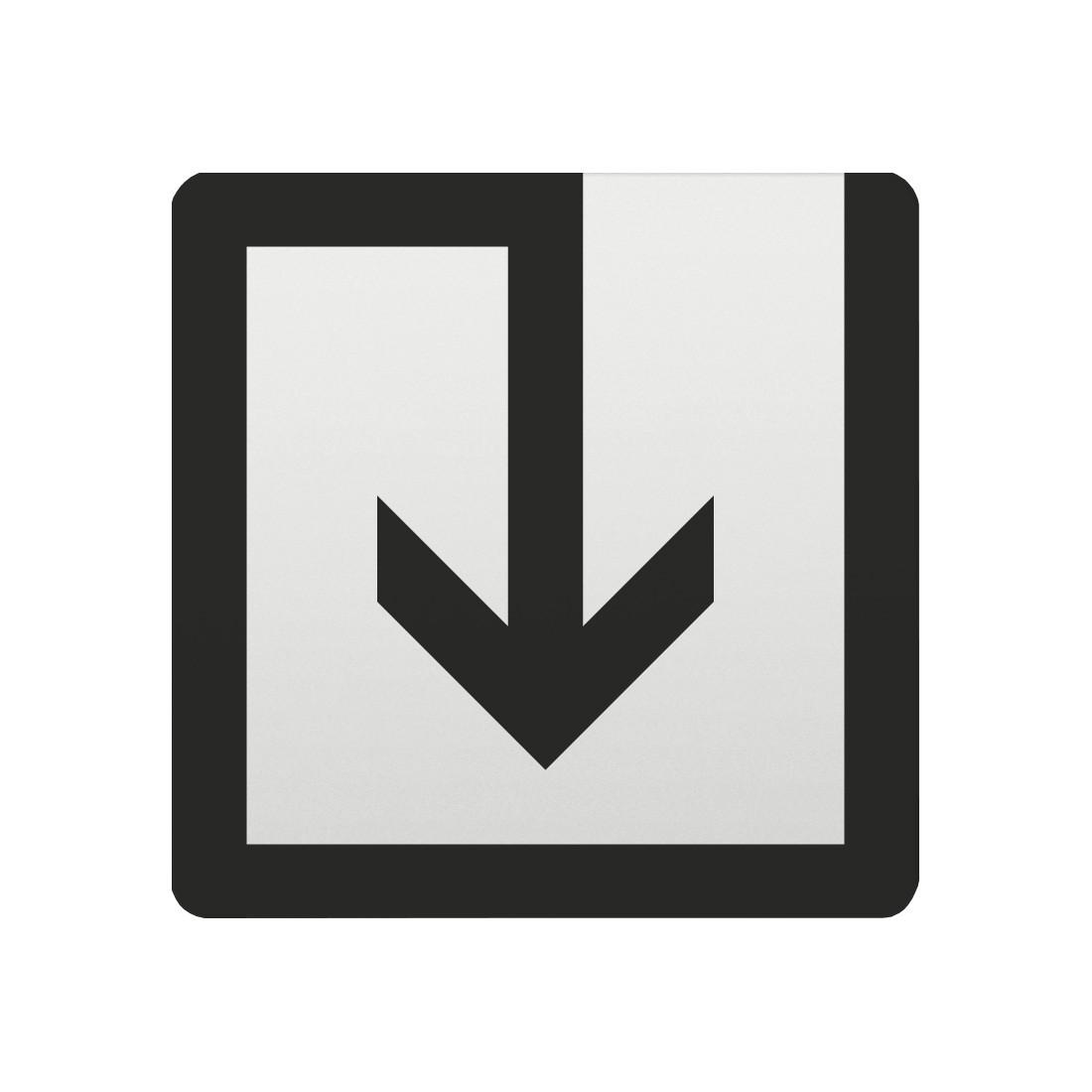 FSB Hinweiszeichen Abfall Lasergraviert Aluminium naturfarbig (0 36 4059 00040 0105)