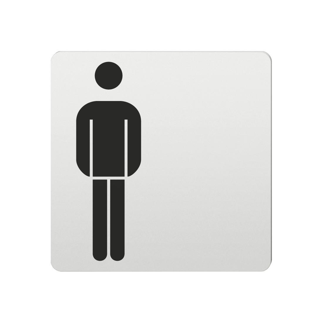 FSB Hinweiszeichen Toilette Herren Lasergraviert Aluminium naturfarbig (0 36 4059 00101 0105)