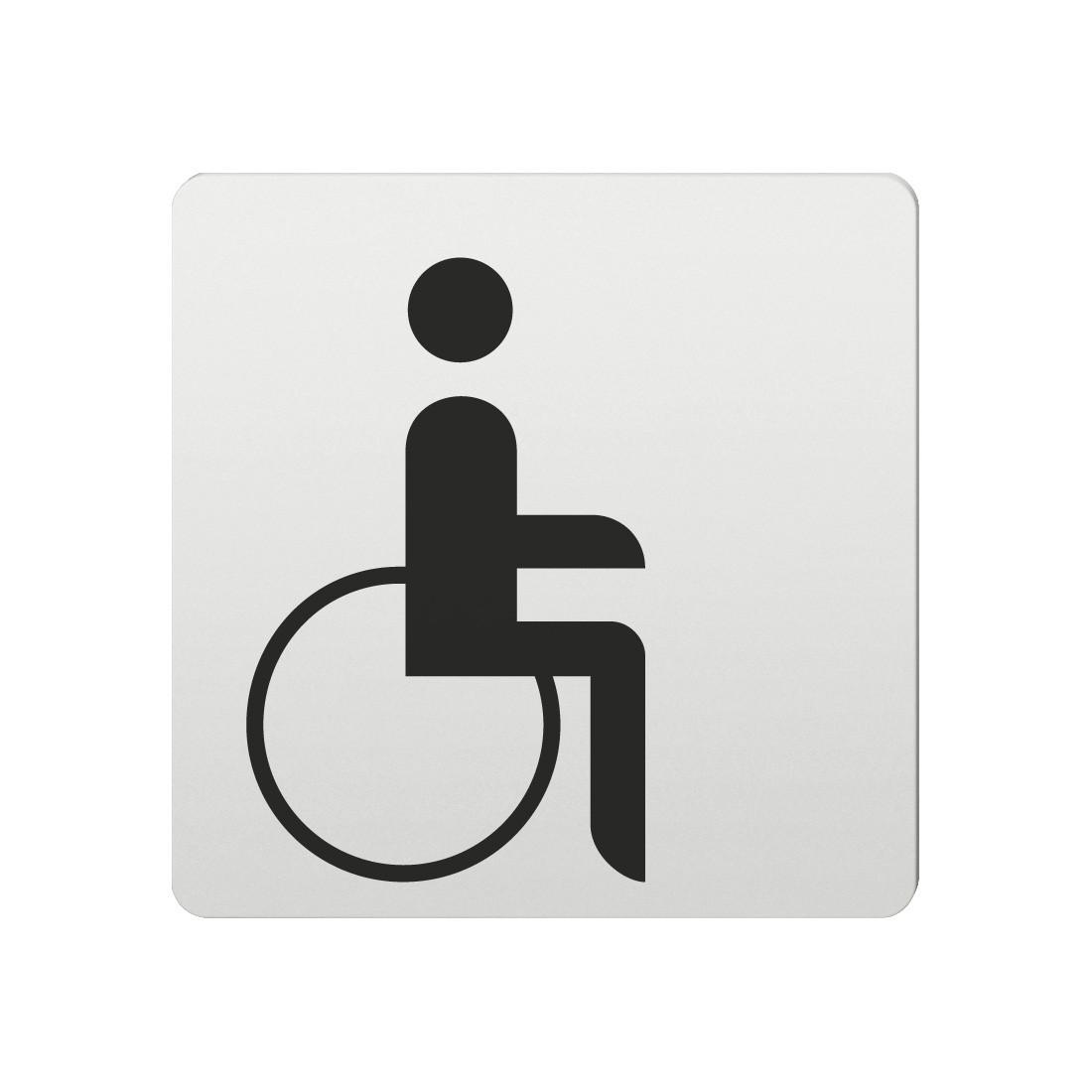 FSB Hinweiszeichen Menschen mit Handicap Lasergraviert Aluminium naturfarbig (0 36 4059 00103 0105)