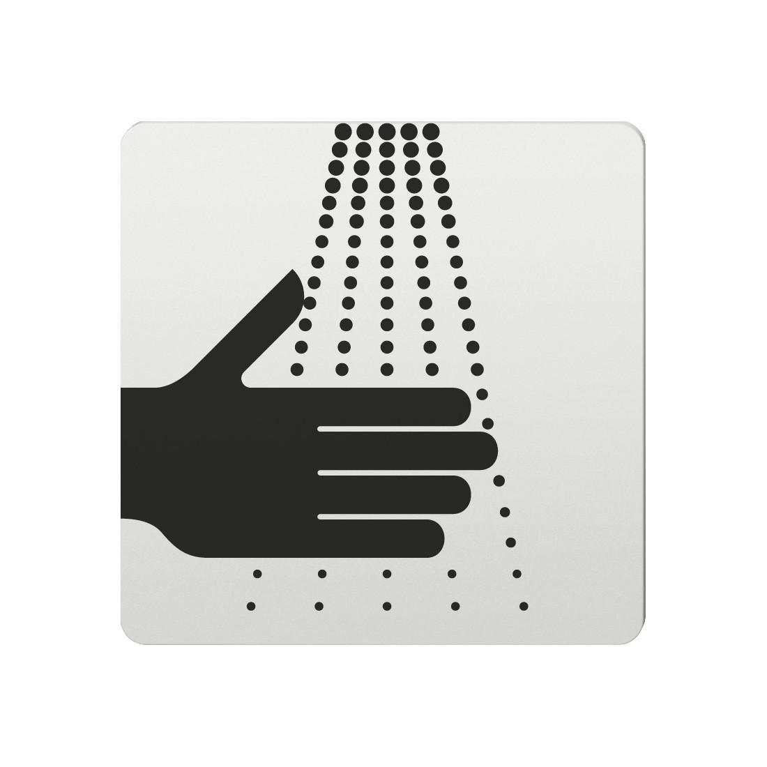 FSB Hinweiszeichen Waschgelegenheit Lasergraviert Aluminium naturfarbig (0 36 4059 00104 0105)