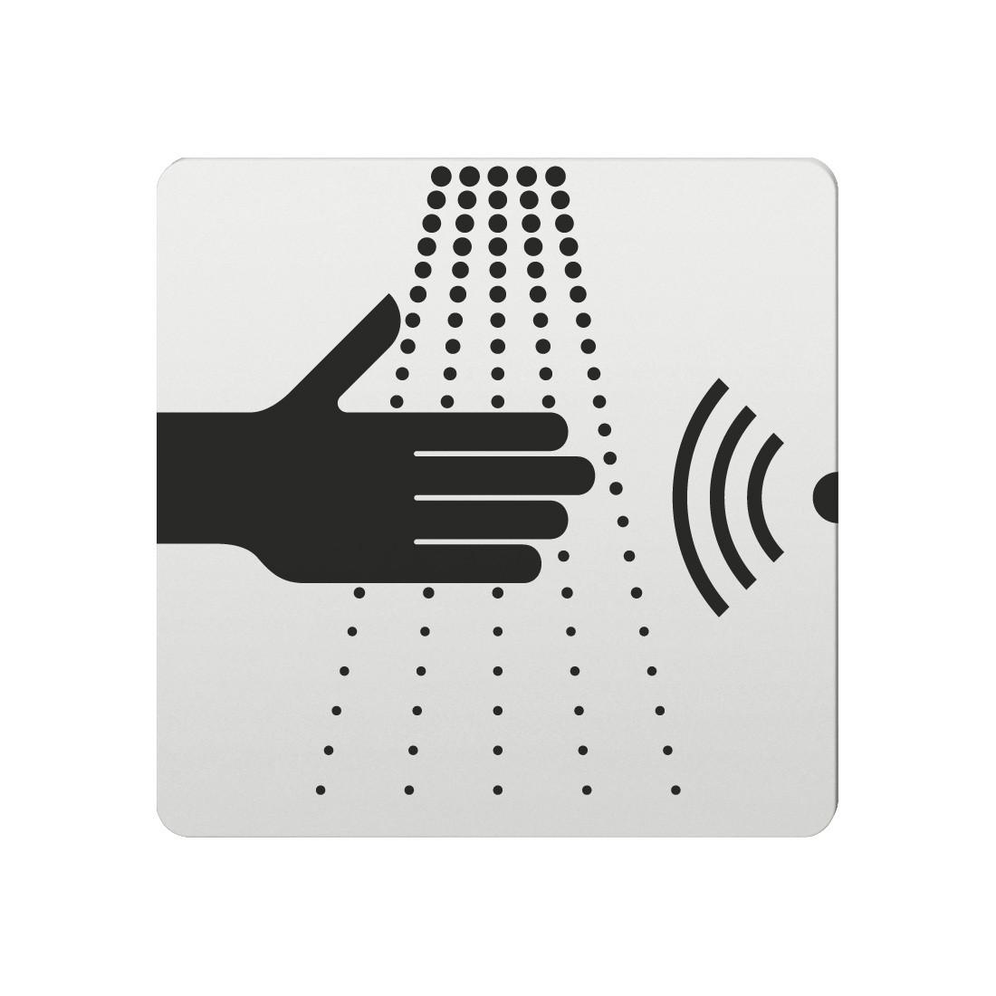 FSB Hinweiszeichen Wasserhahn (opto.) Lasergraviert Aluminium naturfarbig (0 36 4059 00110 0105)