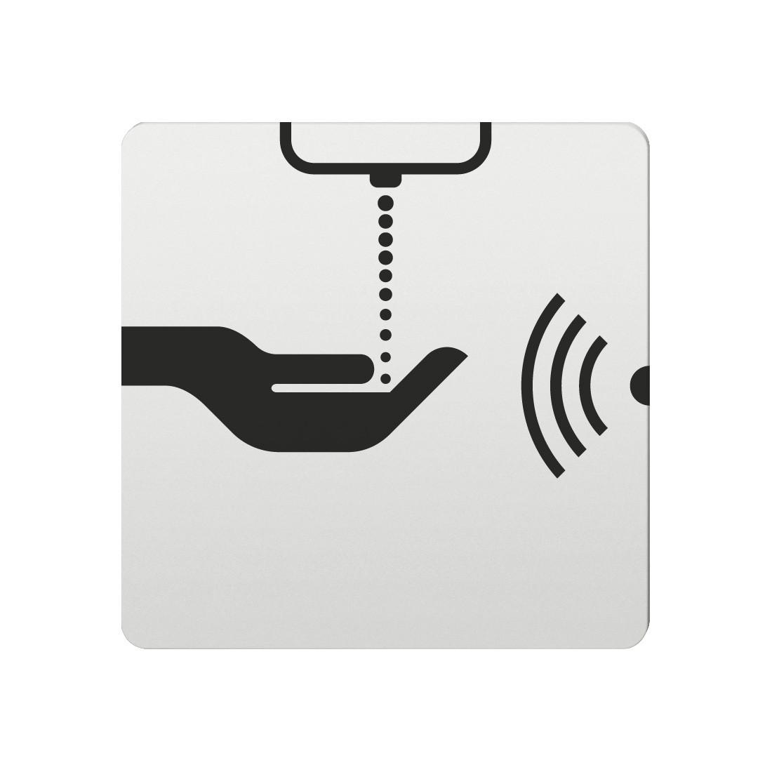 FSB Hinweiszeichen WC (opto.) Lasergraviert Aluminium naturfarbig (0 36 4059 00111 0105)