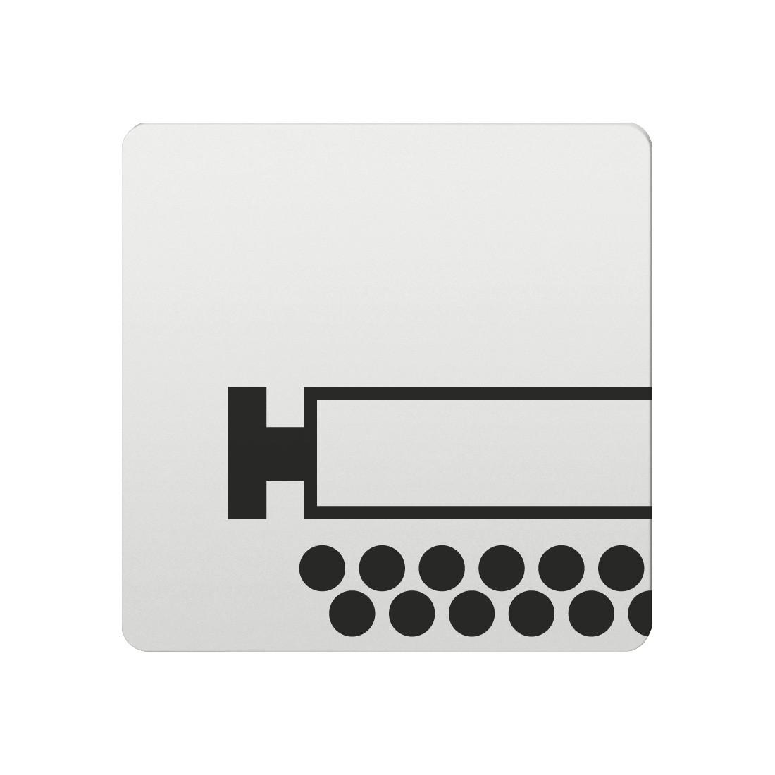 FSB Hinweiszeichen Schreibraum Lasergraviert Aluminium naturfarbig (0 36 4059 00140 0105)