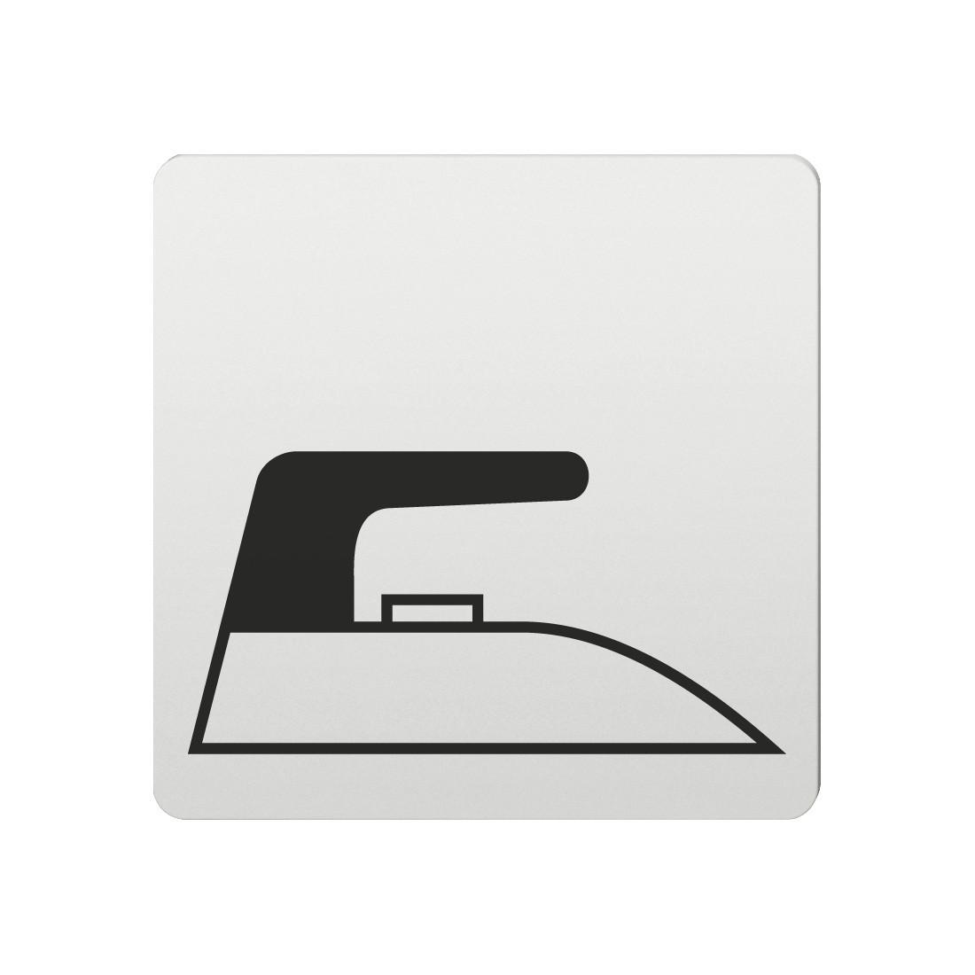FSB Hinweiszeichen Buegelraum Lasergraviert Aluminium naturfarbig (0 36 4059 00141 0105)