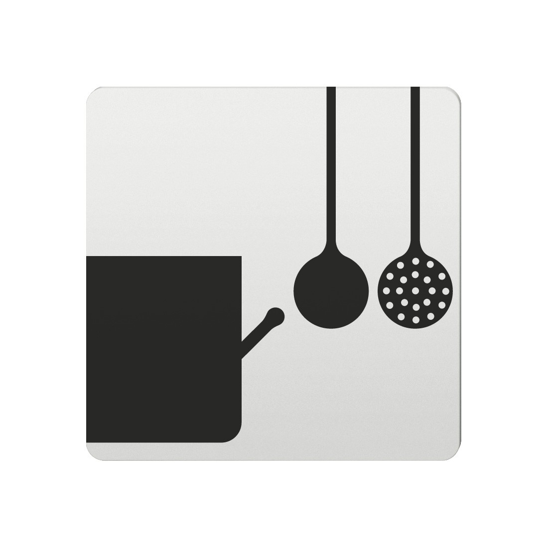 FSB Hinweiszeichen Kueche Lasergraviert Aluminium naturfarbig (0 36 4059 00150 0105)
