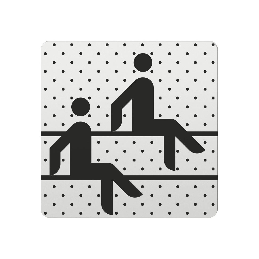 FSB Hinweiszeichen Sauna Lasergraviert Aluminium naturfarbig (0 36 4059 00151 0105)
